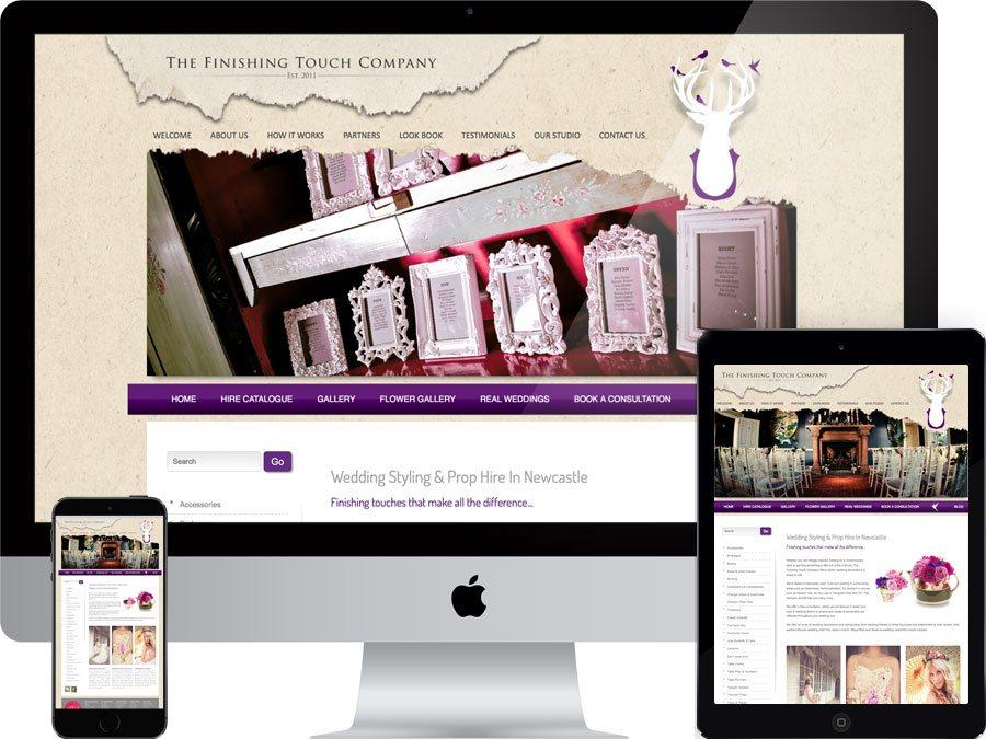 Wedding supplier website designed by tr10.com that is accessible on all digital platforms including mobile devices