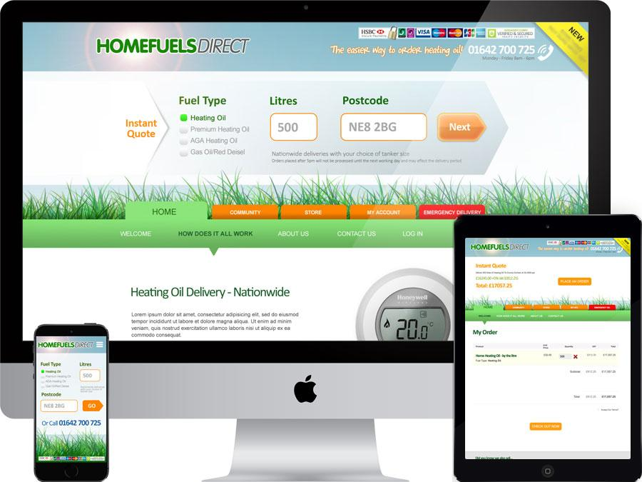 Heating oil delivery website designed by tr10.com that is accessible on all digital platforms including mobile devices