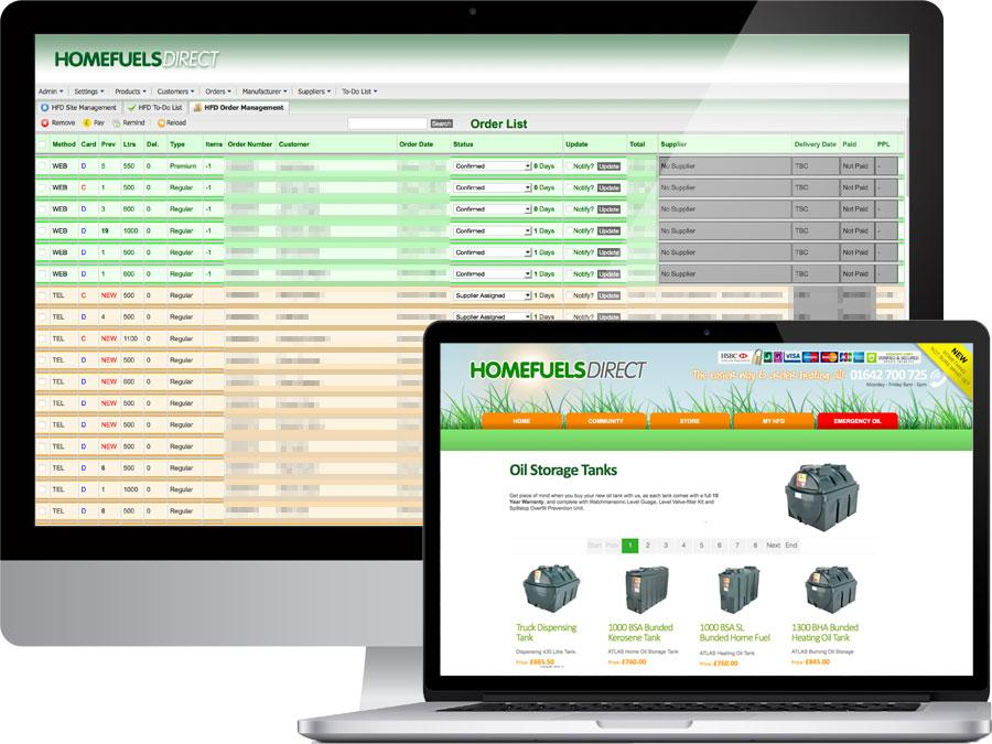 Heating oil provider CRM and order management system designed by tr10.com